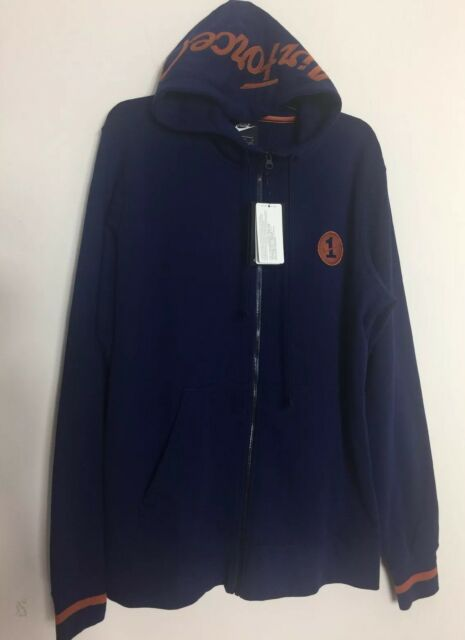 a4ca024ff5a3 Nike Air Force 1 Fleece Full Zip Hoodie Blue RARE Size L for sale ...