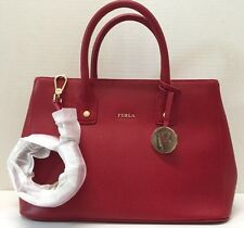 NWT  Furla Linda Satchel Cabernet Handbag Bag Red  $398 78286