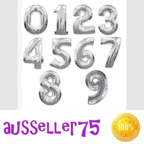 "Huge 40/"" 100cm letter numbers silver foil balloon party wedding shower birthday"