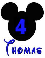 Mickey Mouse Cumpleaños Personalizado Iron sobre transferencia de crear un T Shirt Para Navidad