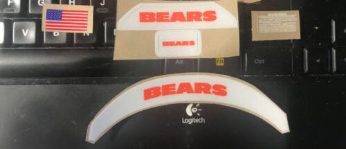 Chicago Bears MINI Speed or VSR4 Complete Football Helmet Decal Set
