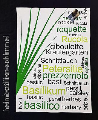 STUCO Geschirrtuch Küchentuch HERBARY Blätter Küchenzubehör Küchenhandtuch Küche