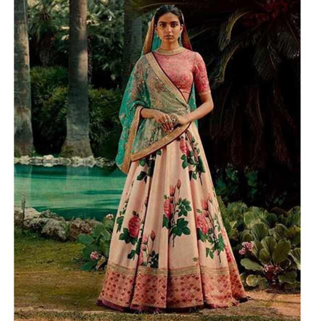 8cb012ee5 Frequently bought together. Floral Lehenga Choli Designer Indian Ethnic Wear  ...