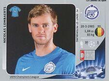 N°178 NICOLAS LOMBAERTS # BELGIQUE FC.ZENIT CHAMPIONS LEAGUE 2013 STICKER PANINI