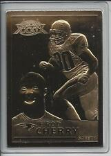 Je'Rod Cherry 2005 Danbury Mint Encased 22kt Gold Football Card N.E. Patriots