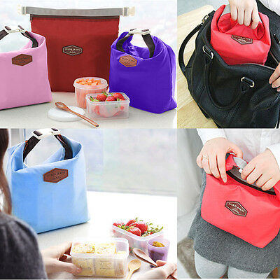 Useful Thermal Cooler Insulated Lunch Carry Tote Portable Storage Kid Pouch Box