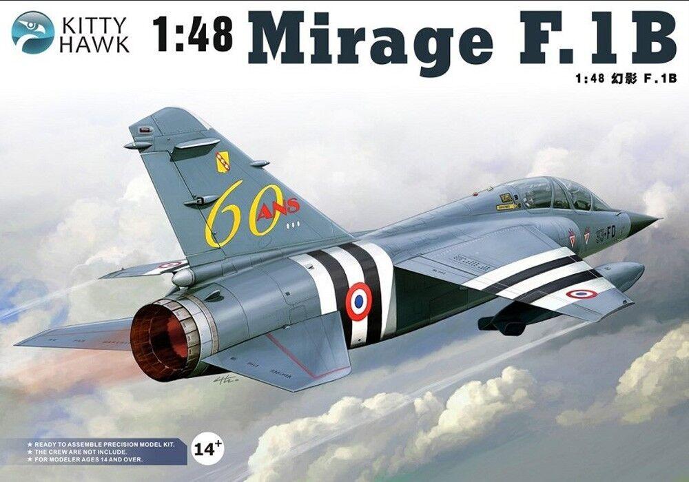 Brand Kitty Hawk Unassembled PS Plastic PE Decal 1 48 Mirage F.1B Model Kit