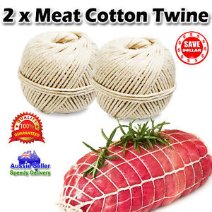 2-X-New-100-Cotton-Butchers-Meat-Trussing-Twine-String-330Ft-Tie-Food-Cooking