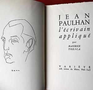 Jean-PAULHAN-l-039-ecrivain-applique-Maurice-TOESCA-1948-Ex-132