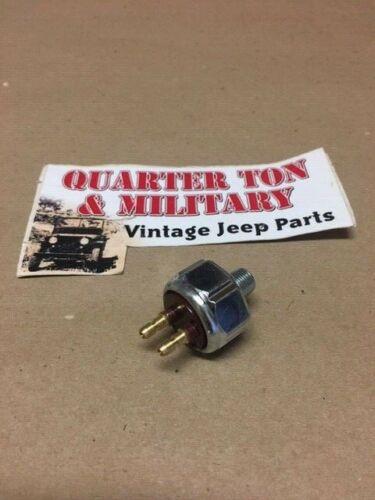 Brake Light Switch *SPECIAL* Solid Pin Fits WIllys MB GPW CJ2A CJ3A M38 J-1