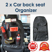 2x Car Back Seat Tidy Organiser Storage Pocket Pouch Travel Kid Baby Bag Holder