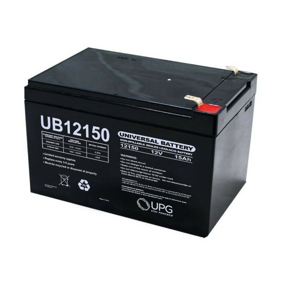 NEW UPG UB12150 12V 15AH F2 Replacement Battery for X-treme X-151