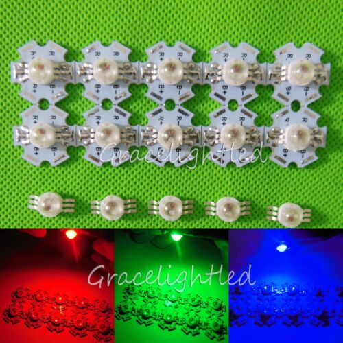 1 10 100pcs 3W RGB Full Color High Power LED Chip Light with star base //no base