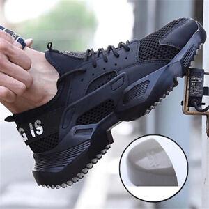 AtreGo Men's Safety Shoes Steel Toe Cap
