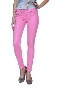 Size-24-True-Religion-Skinny-Leg-Jeans-Pants-Serena-Glitter-Coated-Pink-Barbie