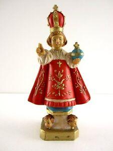 seltene alte christliche Figur Kind Papst Made in Italy Kunststoff Sammlerstück