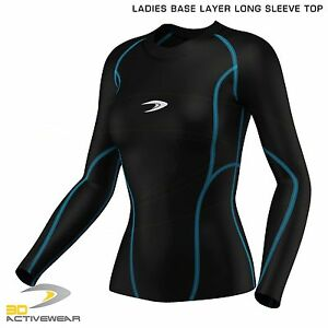 New-Women-039-s-Compression-Top-Long-Sleeve-Base-Layer-Running-Gym-Training-Top