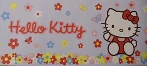 Hello-Kitty-Wallpaper-Border-Flowers-Daisy-Floral-Cat-Blue-Multicoloured-10m