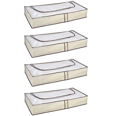 4 x UNTERBETTKOMMODE Unterbett Kommode Box atmungsaktiv