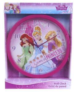 "OFFICIAL NEW 10"" DISNEY PRINCESS WALL CLOCK CHILDRENS CLOCK BEDROOM CLOCK"