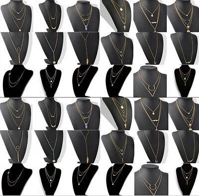 Fashion Women Branch Cross Leaf Bird Cross Pendant Charm Plated Chain Necklace