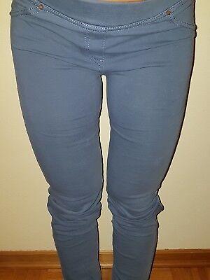 Pantalone Donna Taglia 40 Blu Jeans Aderente Leggings Crease-Resistance Leggings