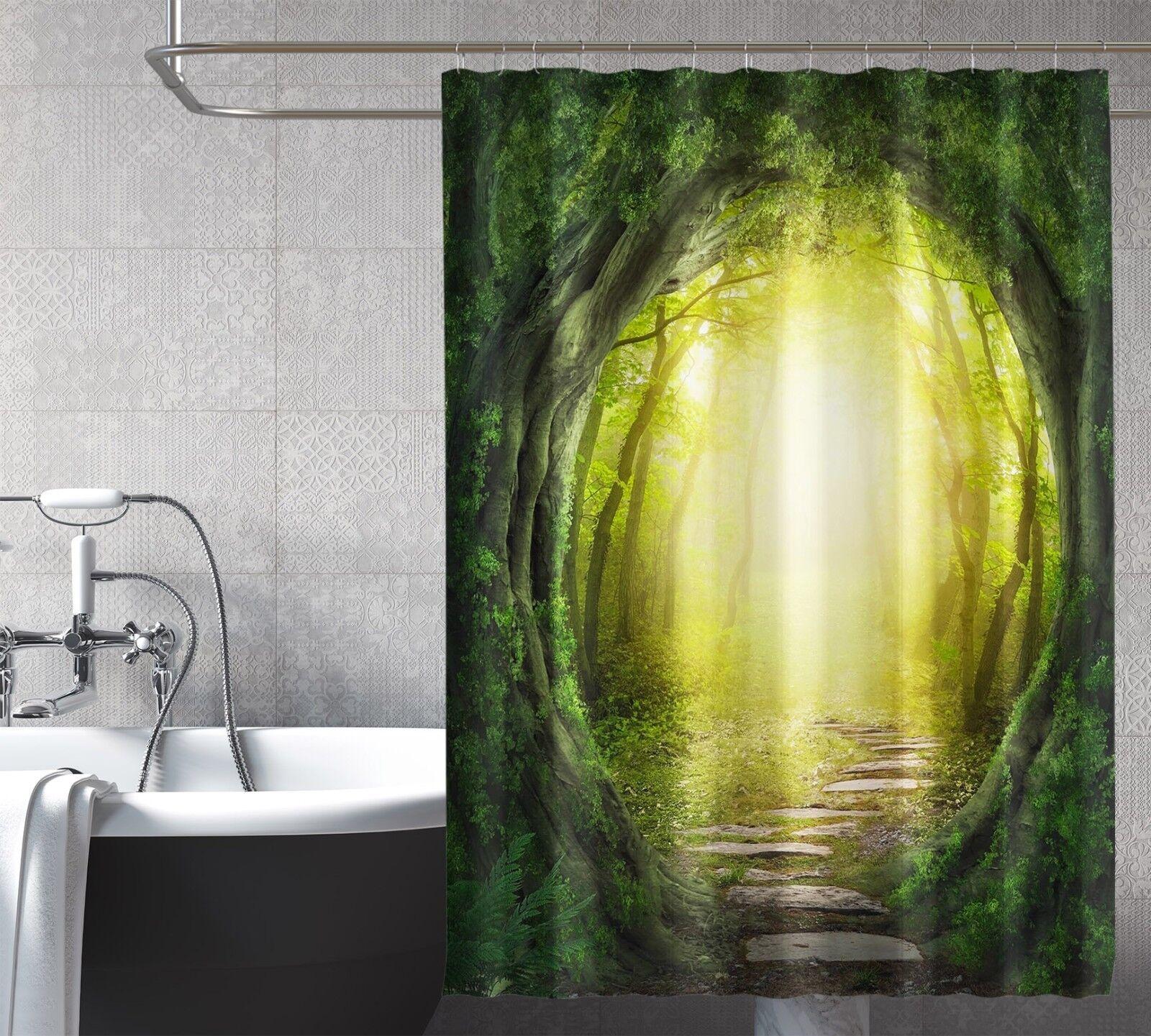 3D Arbre Trou 367 Rideau de Douche Imperméable Fibre Salle de Bain Home Windows Toilette