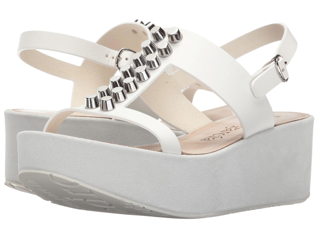 Pedro Garcia Women's White Noella Sandals Euro Sz 40 7037