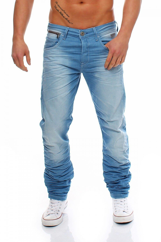 JACK & JONES - - - NICK LAB - Light Blau - Regular Fit - Blau Herren Jeans Hose 97ff00