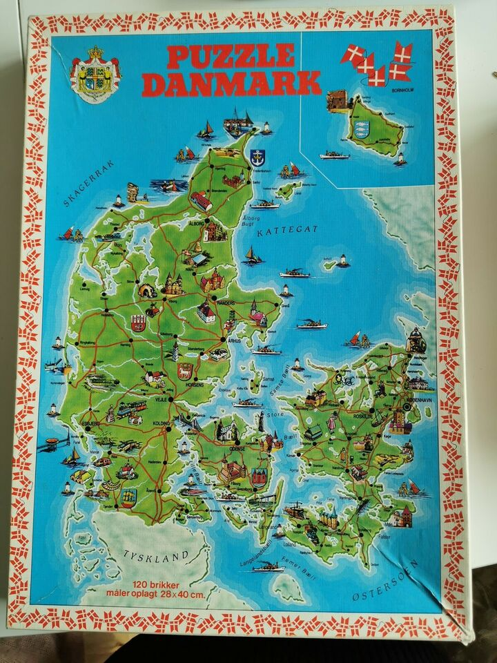 Danmark puslespil, Danmark puslespil, puslespil