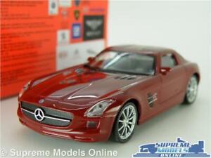Mercedes-SLS-AMG-Coche-Modelo-Escala-1-43-Welly-Nex-2-Puerta-Coupe-Marron-Benz-K8
