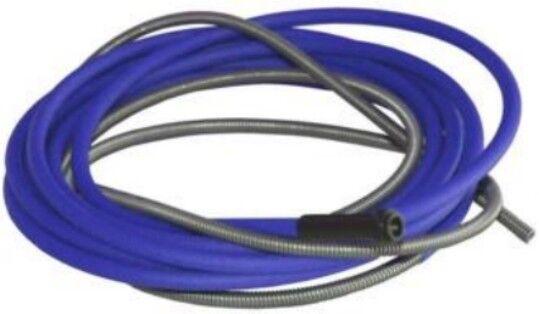 BINZEL TYPE MIG LINER STEEL BLUE FOR 0.6-0.9mm WIRE SIZE - 4M LONG