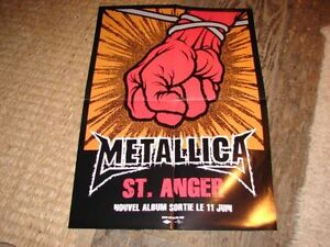 Metallica-St-Anger-Rare-French-Press-Kit-Poster