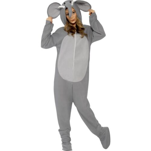 Elephant Adult Wild Zoo Animal Trunk Mammal Mens Ladies Fancy Dress Costume