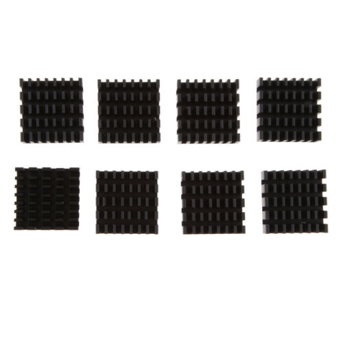 A Adhesive Aluminum Heat Sink Cooler Kit Cooling Fin for Raspberry Pi 2 B B