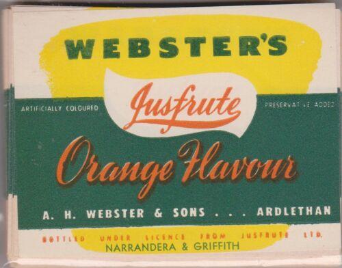 A 1950-60AU Webster's just fruitOrange flavour LOA1