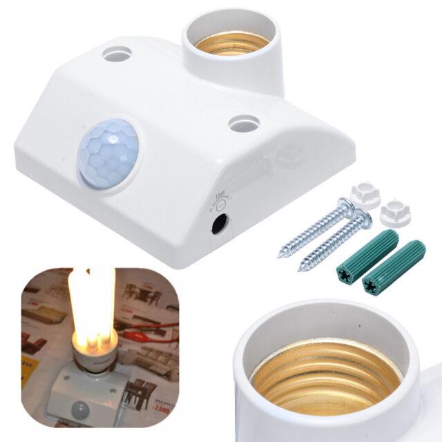 E27 220V Infrared PIR Body Motion Sensor Automatic Light Lamp Base Holder Switch