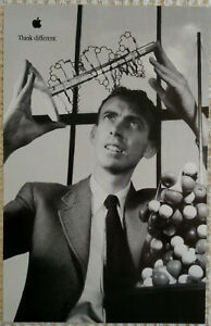 Details about 1998 Original APPLE THINK DIFFERENT poster - James Watson  -11x17- NEW!