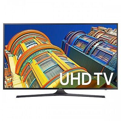"Samsung UN50KU6300 50"" Black LED UHD 4K Smart HDTV w/WiFi - UN50KU6300FXZA"