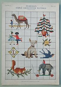 ANTIQUE-Vintage-20s-EMBROIDERY-PEARSALL-CROSS-STITCH-PATTERN-large-chart-nursery