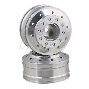 2pcs-Silver-50010-Aluminium-Alloy-47mm-OD-Front-Wheel-Rims-for-TAMIYA-RC1-14-Car