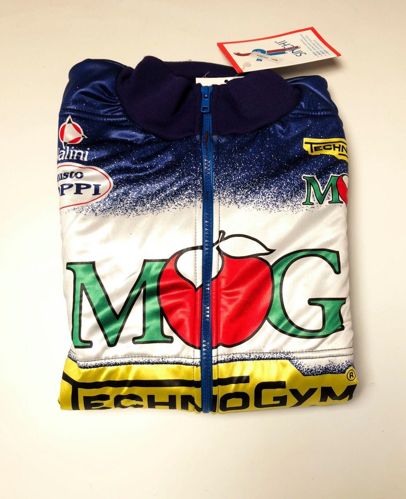 Giubbino foderato MG TechnoGym Fausto Coppi Nalini cycling jacket Gianni Bugno