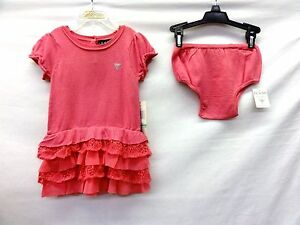 e4f07757bb44b3 Image is loading Guess-Pink-Baby-Girl-Sweater-2-Pieces-Dress-