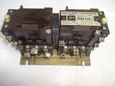 Cutler-Hammer C50CN3A Reversing Contactor Size 1