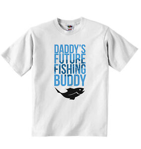 excellent quality new collection beautiful design Details about Daddy's Future Fishing Buddy - T-shirt Personalised Tees  Clothing Unisex - White