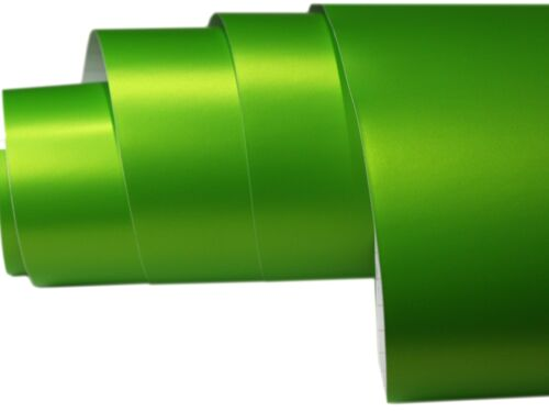 Apfelgrün Chrom Matt Metallic 300cm x 152cm Blasenfrei Luftkanäle X310