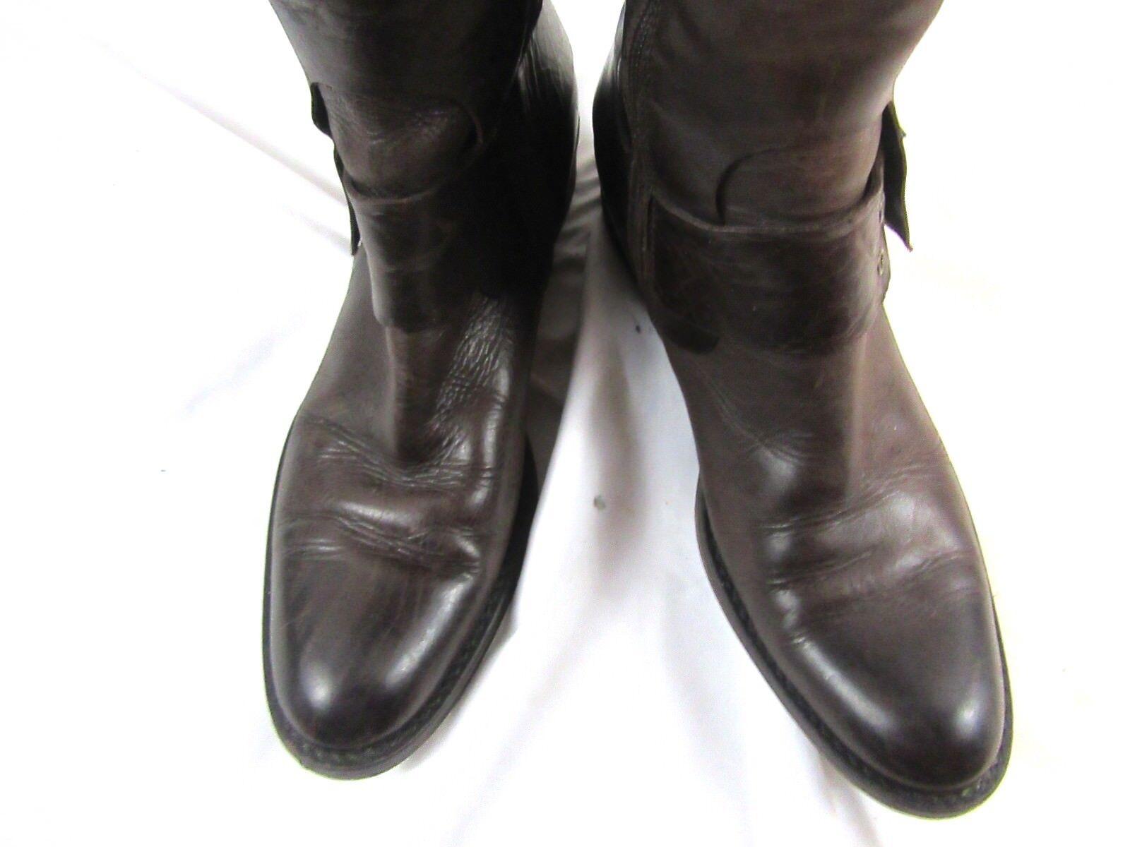 Damenschuhe Damenschuhe Damenschuhe Cordani Calf high Braun Leder Stiefel, buckle, side zip, Größe 8 B  07dad3