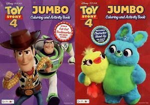 Toy Story 4 Jumbo Coloring And Activity Book Set Of 2 Books Ebay