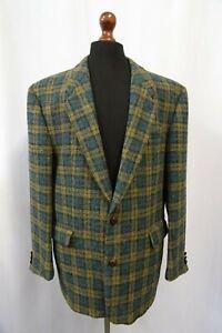 Men-039-s-Vtg-Tartan-Harris-Tweed-Jacket-Blazer-44R-Dry-Cleaned