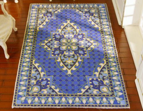 Beautiful Sapphire Blue New Persian Design 1//12 Miniature Decorative Rug